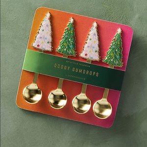 Anthropologie Holiday Christmas Tree Teaspoons